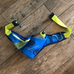 Nathan Hydration Running Fuel Belt Blue & Yellow